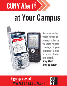 Sign up to CUNY Alert